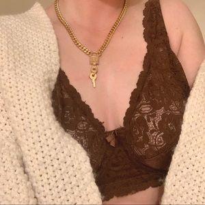Dior Lock Chain Necklace
